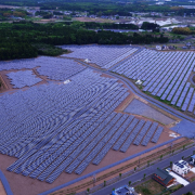 Infrared Camera Inspection By A Drone – Spring Tree Solar Power Plant