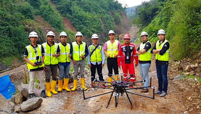 Terra Drone Indonesia demonstrates aerial LiDAR survey