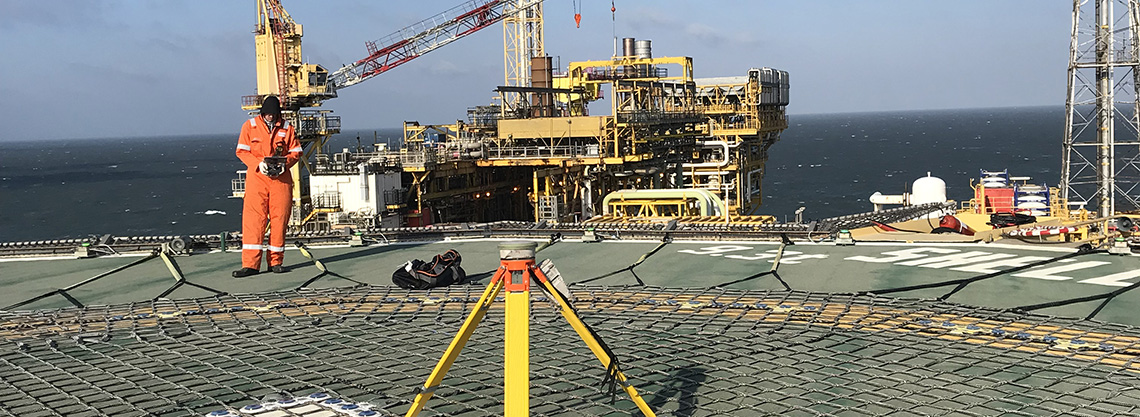 oil rig platform survey
