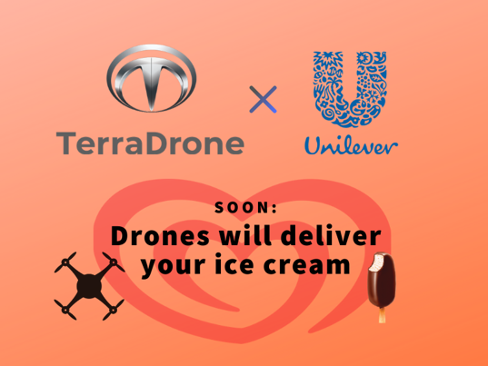 Ice cream drone delivery