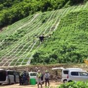 自社ドローン搭載型レーザ「Terra Lidar(テラライダー)」を使った精度10cm以内の山地現況測量を秋田県にて実施