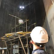 当社グループ企業Terra Inspectioneeringと共同でUAV非破壊検査の実証実験に成功 高さ約160mの煙突を点検