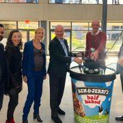 テラドローンヨーロッパ、ユニリーバと共同で「空飛ぶアイスクリーム」実証実験 NYで「ベン&ジェリーズ」をドローンで自動配送