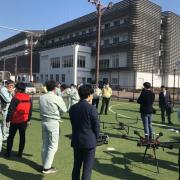 静岡県清水区にてドローンレーザ測量の計測デモ・講習会を実施 県内の測量会社や建設会社23社から40名以上が参加