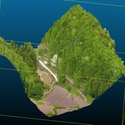 災害時危険性を孕む最大角度70度急斜面にて当社UAVレーザーを用いた精度5cm以内の地形計測に成功